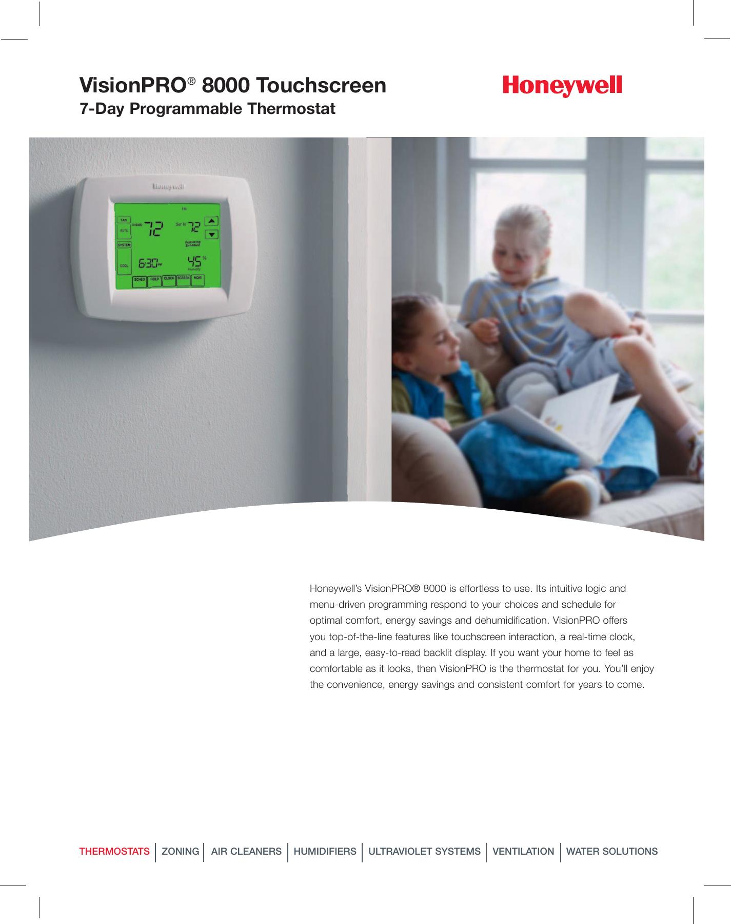 Bestseller  Honeywell Th8110u1003 Vision Pro 8000 Digital Thermostat Manual