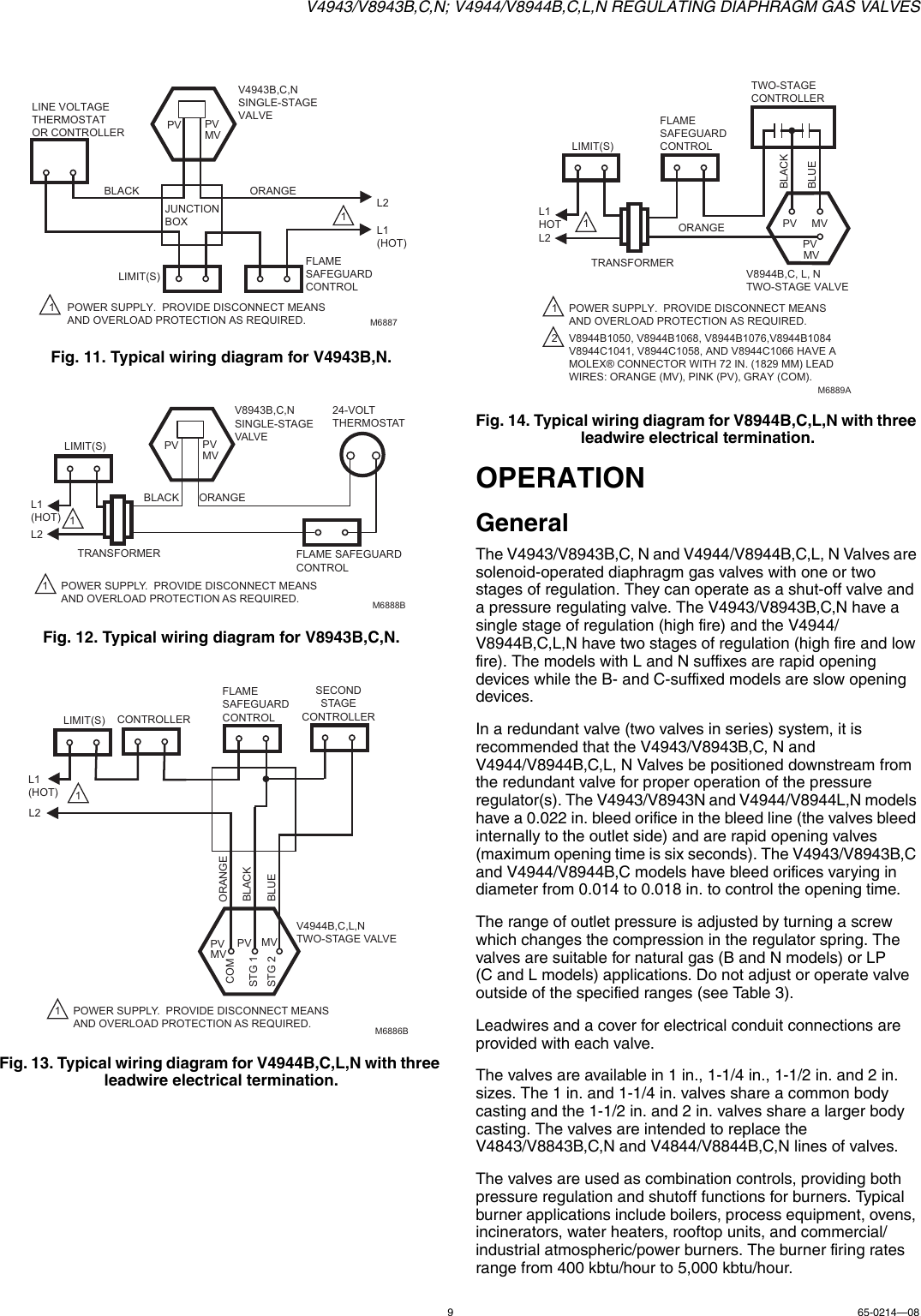 Honeywell Thermostat V4944 Users Manual 65 021408 V4943 V8943bcn Two Stage Wiring Diagram Page 9 Of 12