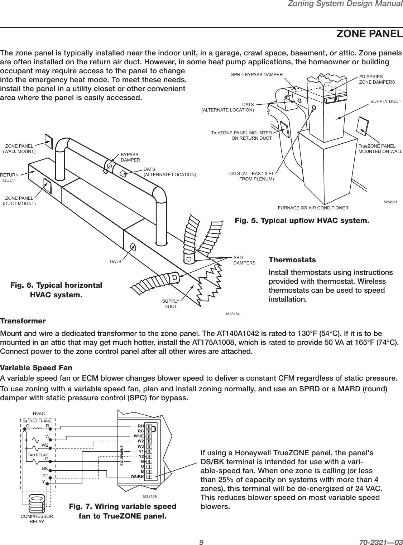 Honeywell Hz311 Hz322 Hz432 Users Manual 70 2321 03 Zoning ... on