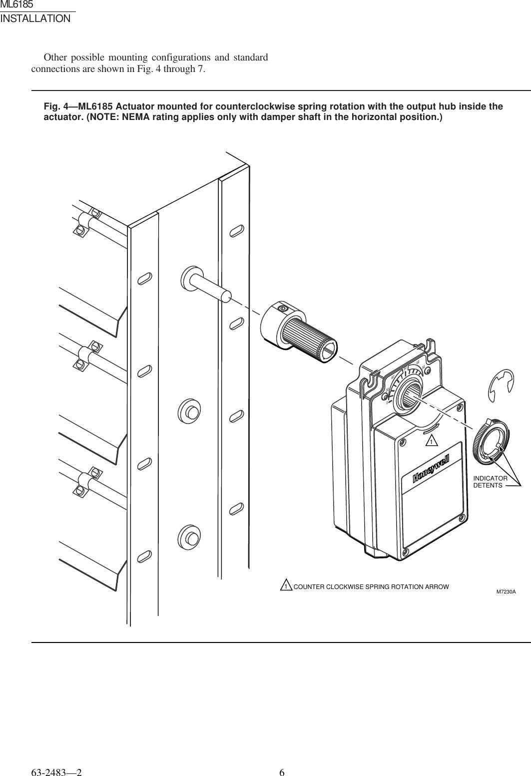 Honeywell Ml6185 Users Manual 63 2483 Spring Return Direct Coupled. Page 6 Of 12 Honeywell Honeywellml6185usersmanual 63. Wiring. Honeywell Direct Coupled Actuator Wiring Diagram At Scoala.co