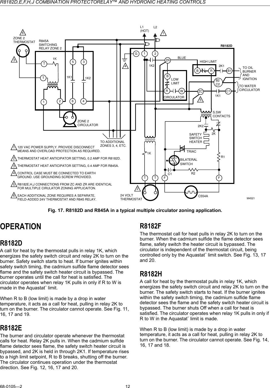honeywell r8182d users manual 68 0105 r8182d,e,f,h,j combination