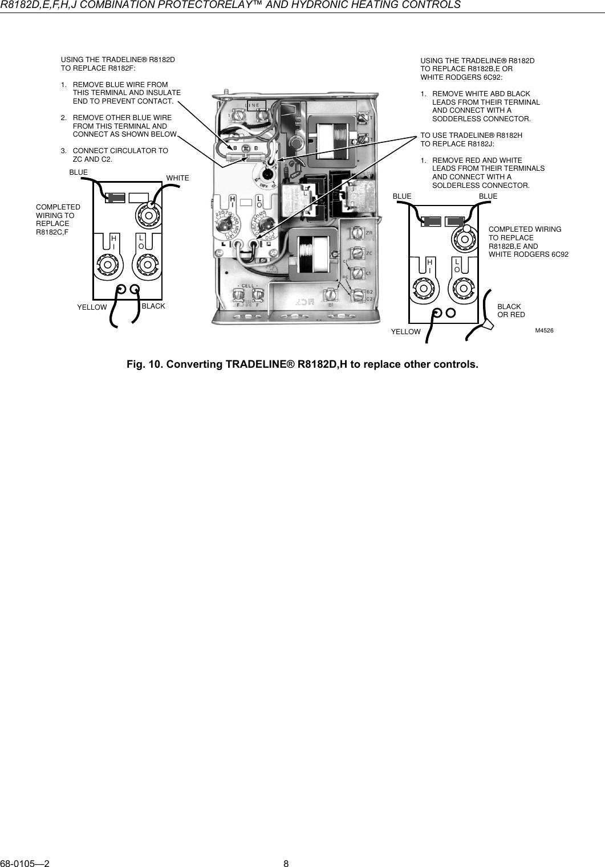 honeywell r8182d users manual 68 0105 r8182d,e,f,h,j combinationHoneywell R8182d Wiring Diagram #14