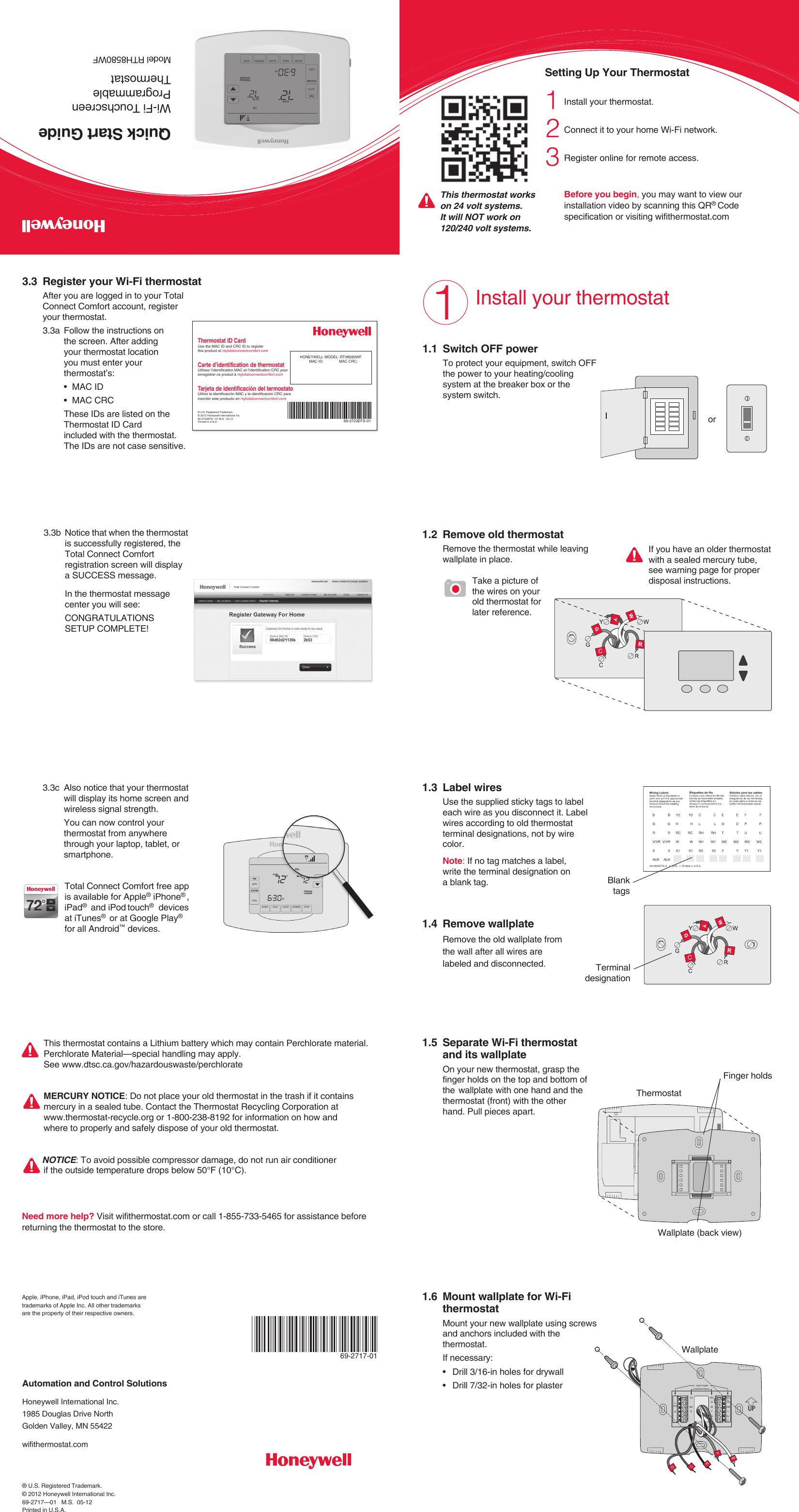 Rth8500 manual pdf array honeywell rth8500 quick start manual 69 2717 01 wi fi touchscreen rh usermanual wiki fandeluxe Gallery
