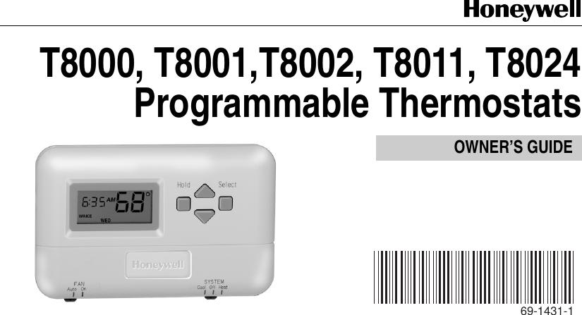 honeywell t8000 owners manual 69 1431 t8000c t8001c t8011r t8024c rh usermanual wiki