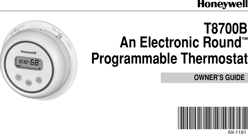honeywell round programmable thermostat manual