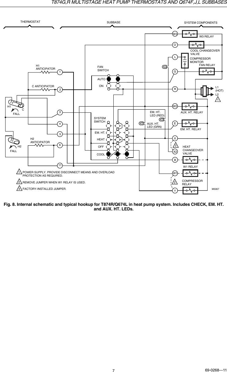Honeywell Thermostat Wiring Diagram 3600
