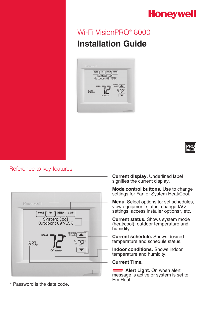 Honeywell Th8321wf1001 Installation Guide 33 00065 01 Wi