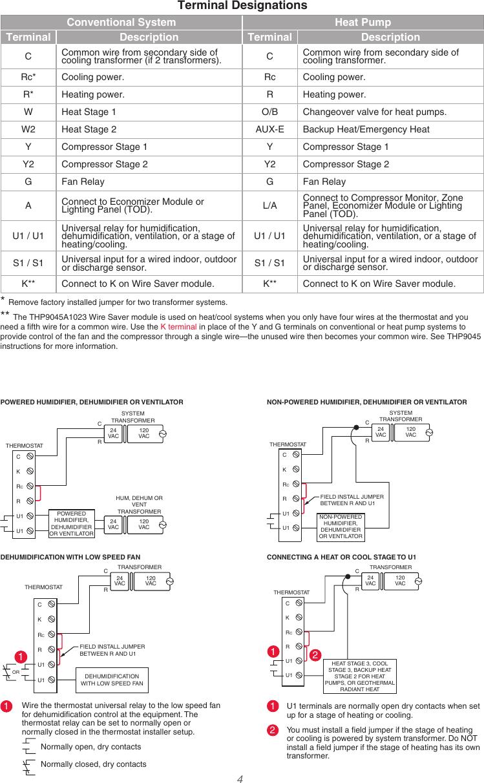 Honeywell Th8321wf1001 Installation Guide 33 00065 01 Wi Fi Visionpro U00ae 8000