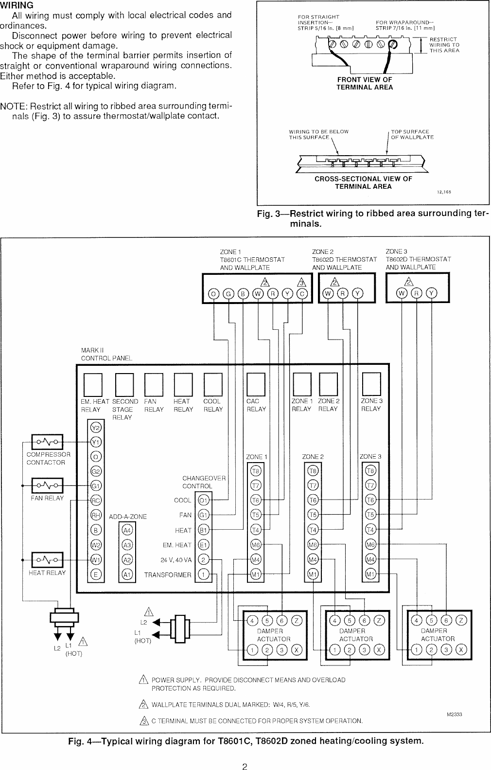 honeywell chronotherm 3 wiring diagram honeywell triple