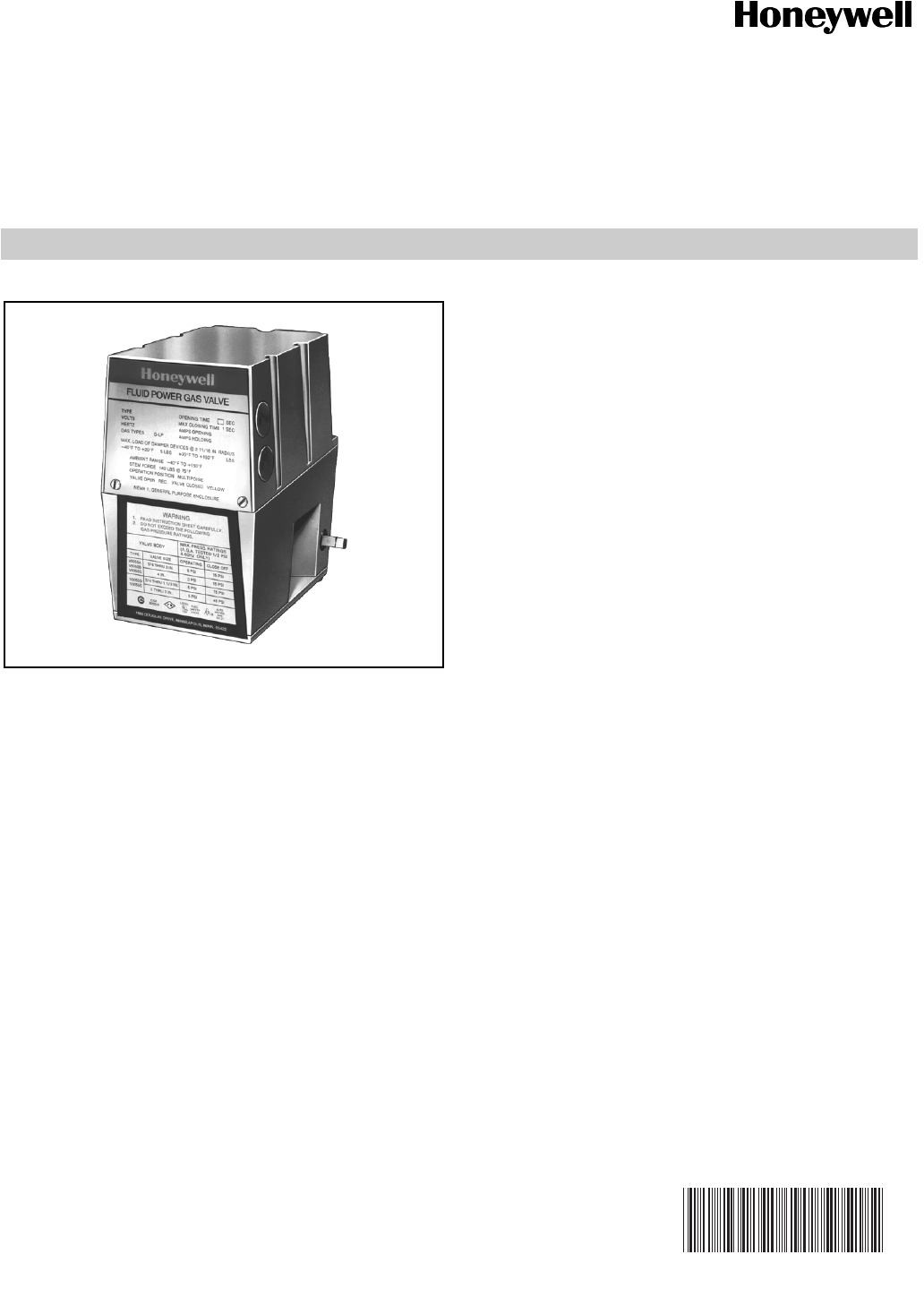 Honeywell v4055 users manual 60 230912 v4055abde on off fluid honeywell v4055 users manual 60 230912 v4055abde on off fluid power gas valve actuator sciox Images