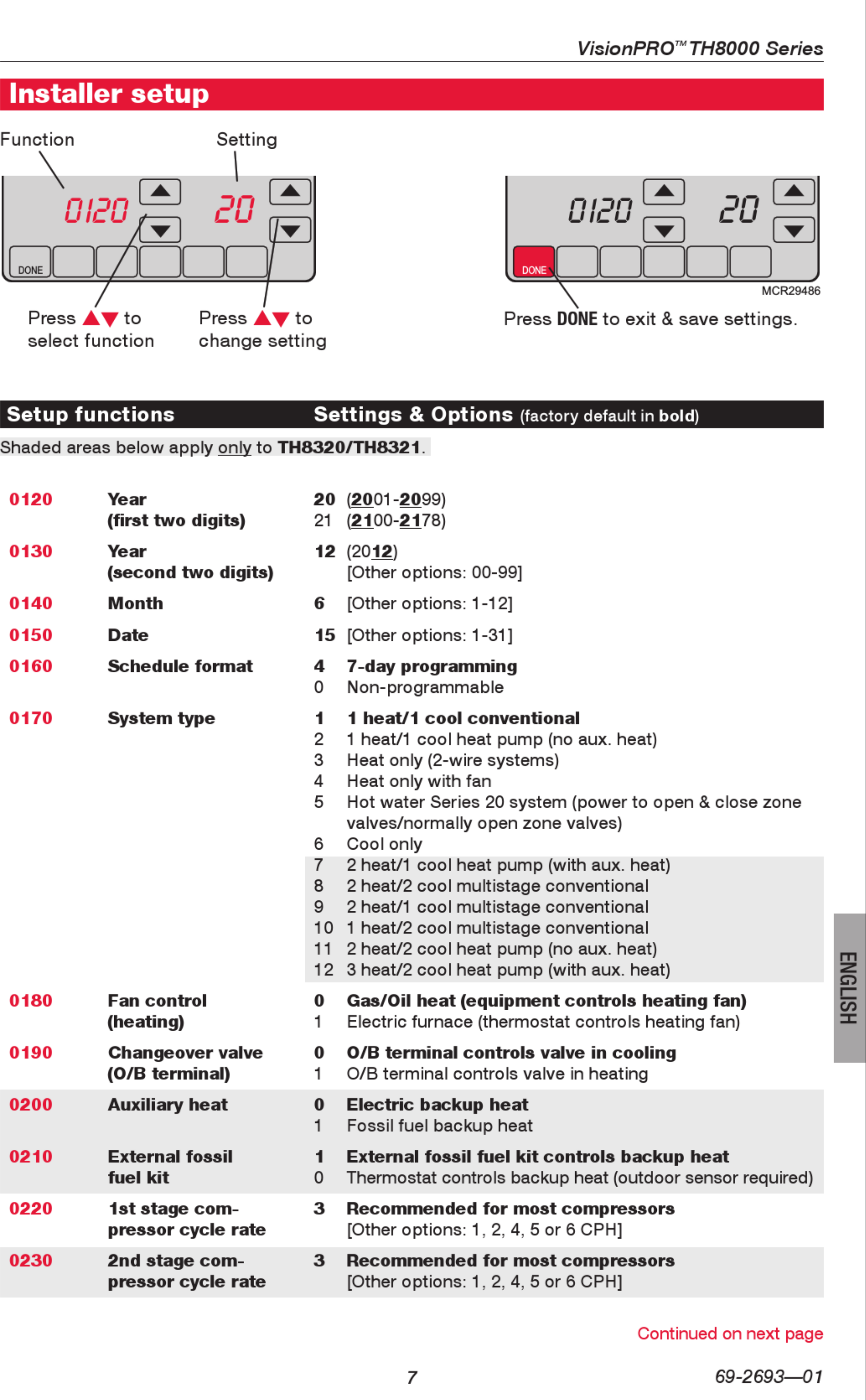 Honeywell Visionpro Th8000 Series Installation Manual 1003127 User Wiring Diagram Page 7 Of 12