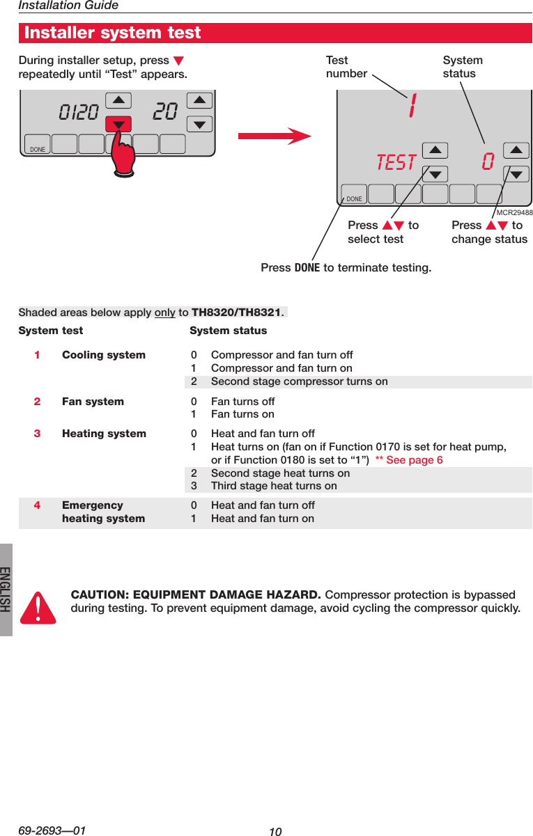 Honeywell Visionpro Th8000 Series Installation Manual 69 2693 01 Wiring Diagram Page 10 Of 12