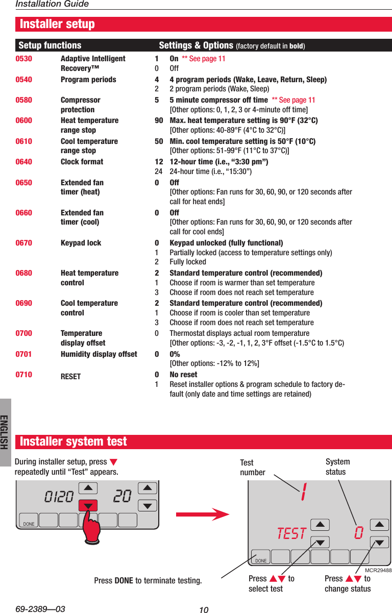 Honeywell Visionpro Touch Screen Programmable Th8000 Users Manual 69 Wiring Diagram Page 10 Of 12