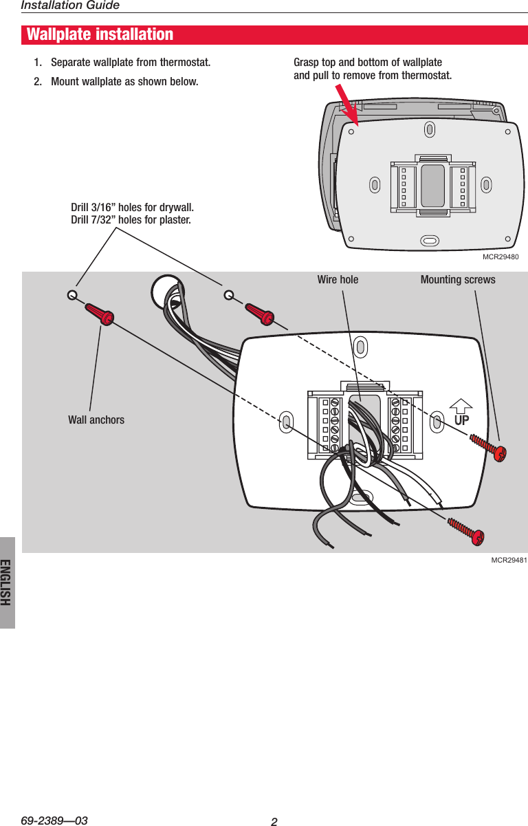 Honeywell Visionpro Touch Screen Programmable Th8000 Users Manual 69 Wiring Diagram Page 2 Of 12