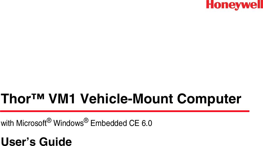 Honeywell Thor VM1 User's Guide (Windows CE) User Manual To