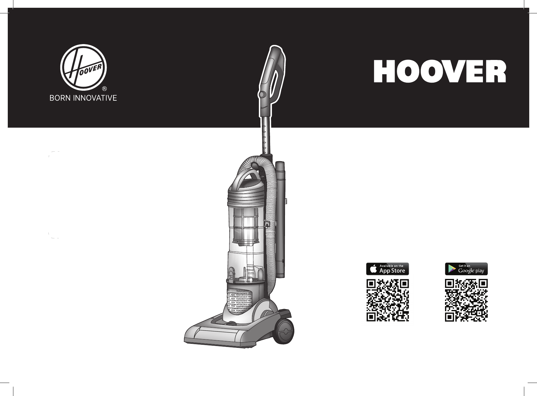 Hoover Vision One Fi Bagless Upright Vacuum Cleaner Vr81of01