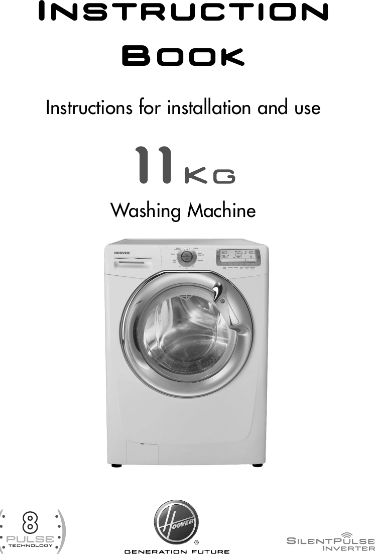 Hoover Washing Machine Dynamic 11 8 Pulse Dyn 11146p8ch Instruction Wiring Diagram Manual Product Code 31005616 Dyn11146p8c