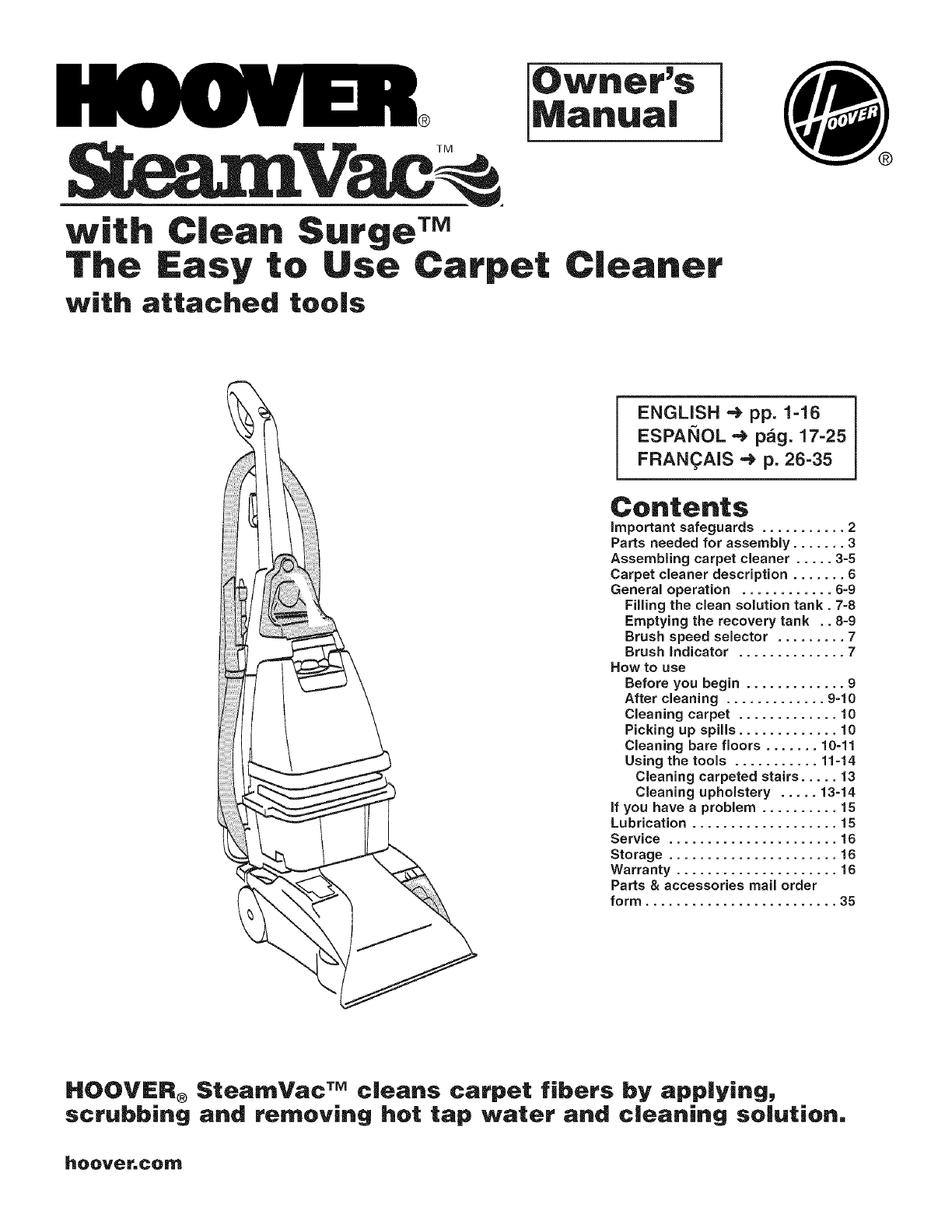 hoover f5905 900 user manual upright extractor manuals and guides rh usermanual wiki hoover steamvac manuals manual hoover steamvac manual f5912-900