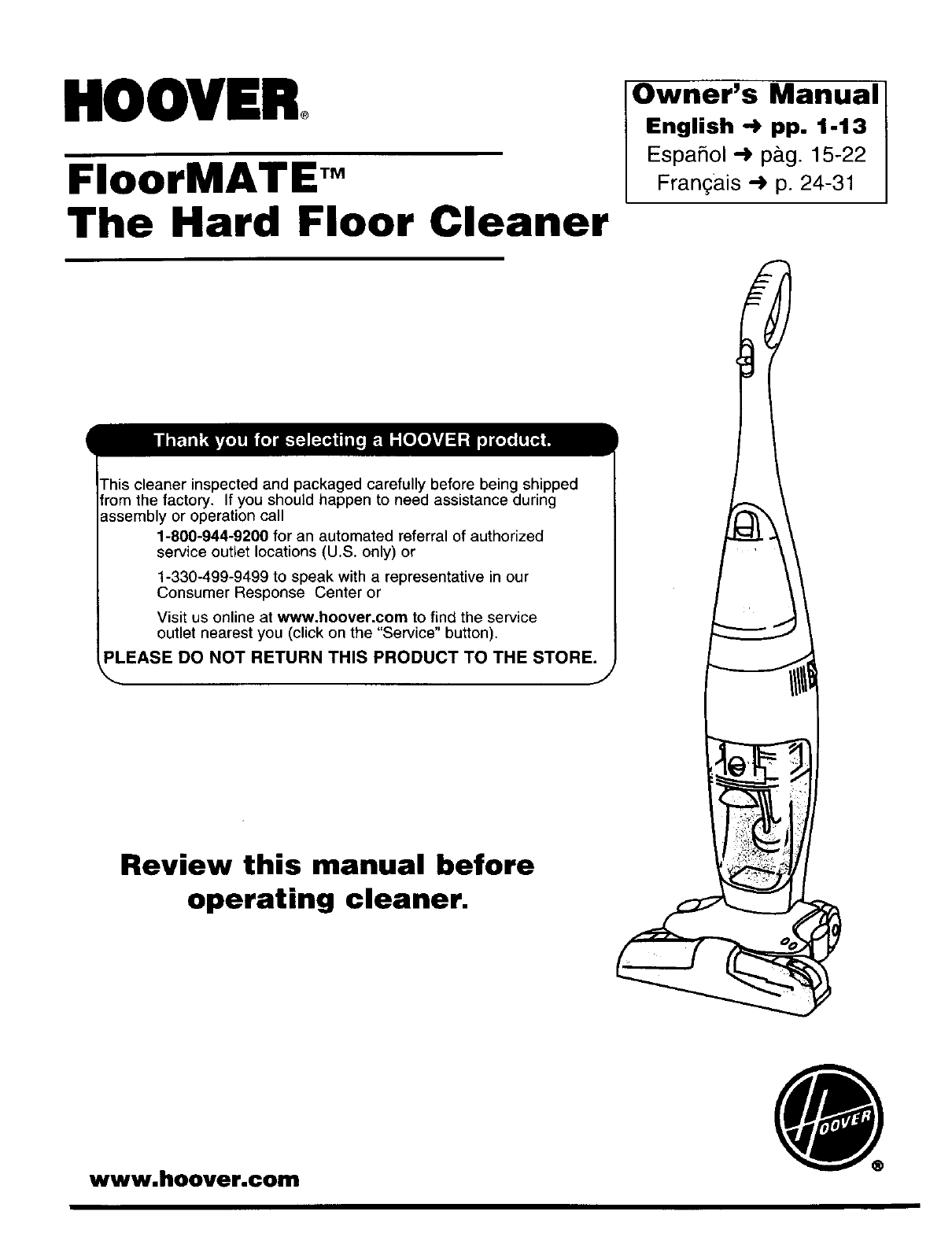 Hoover Floormate H3000 Prezzo.Hoover H3000 User Manual Floormate Manuals And Guides L0201128