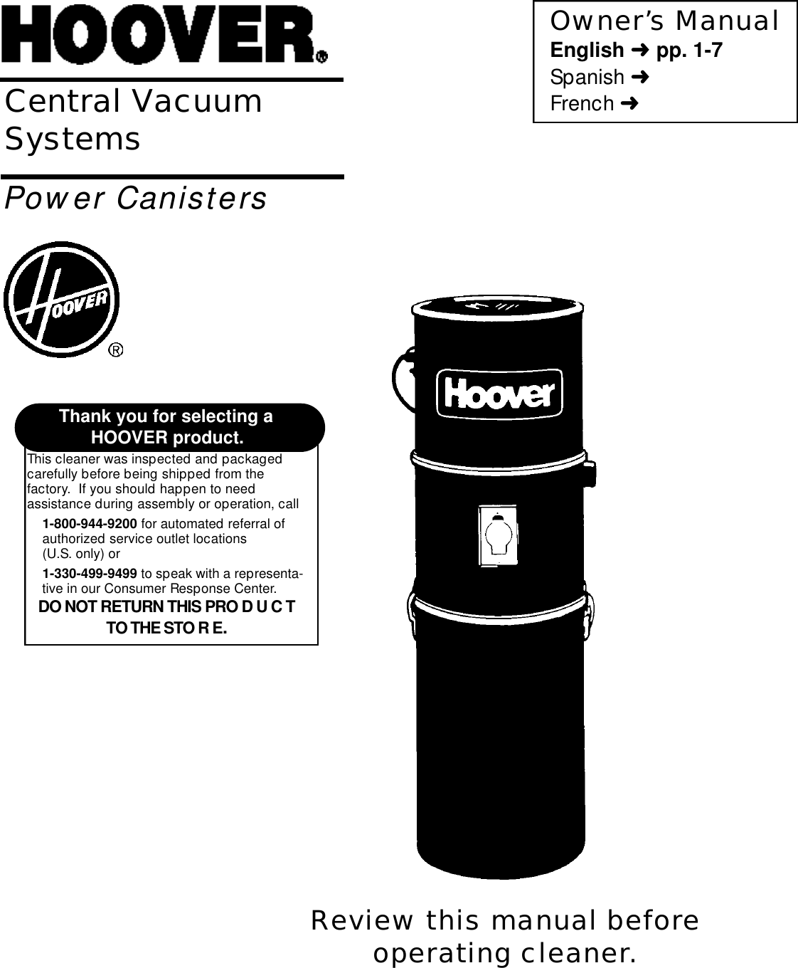 Hoover Central Vacuum Systems Users Manual Wiring Diagram Page 1 Of 12