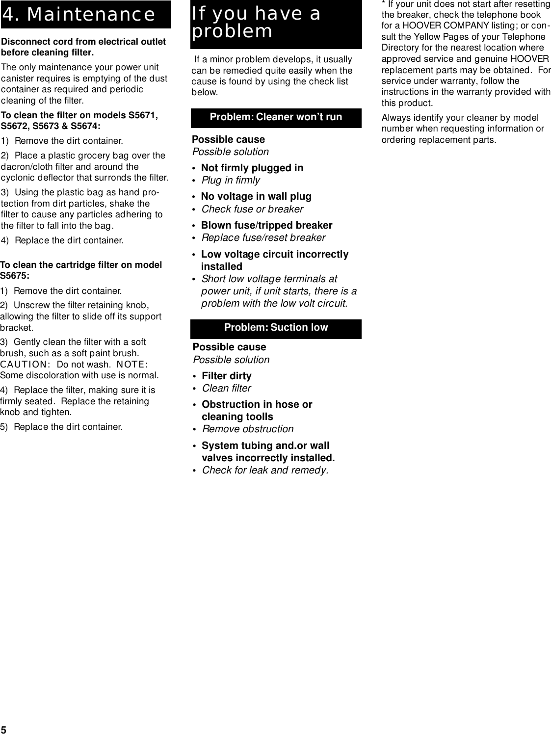 Hoover Central Vacuum Systems Users Manual Wiring Diagram Page 5 Of 12
