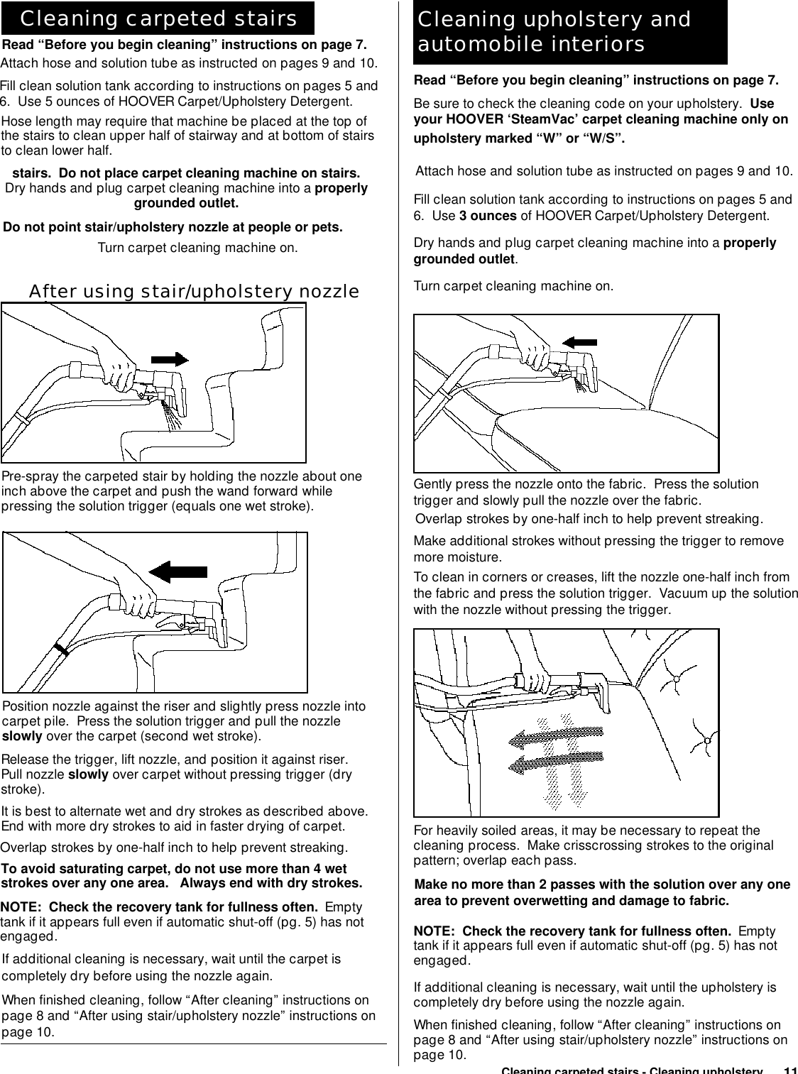 Hoover instruction manuals
