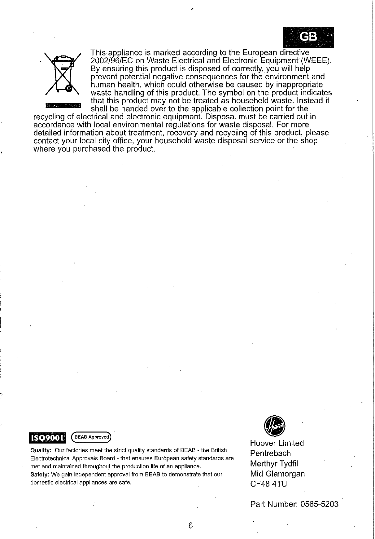 Hoover Vacuum Cleaner Dust Manager Tc5232 Instruction Manual Product Wiring Diagram Page 11 Of Code