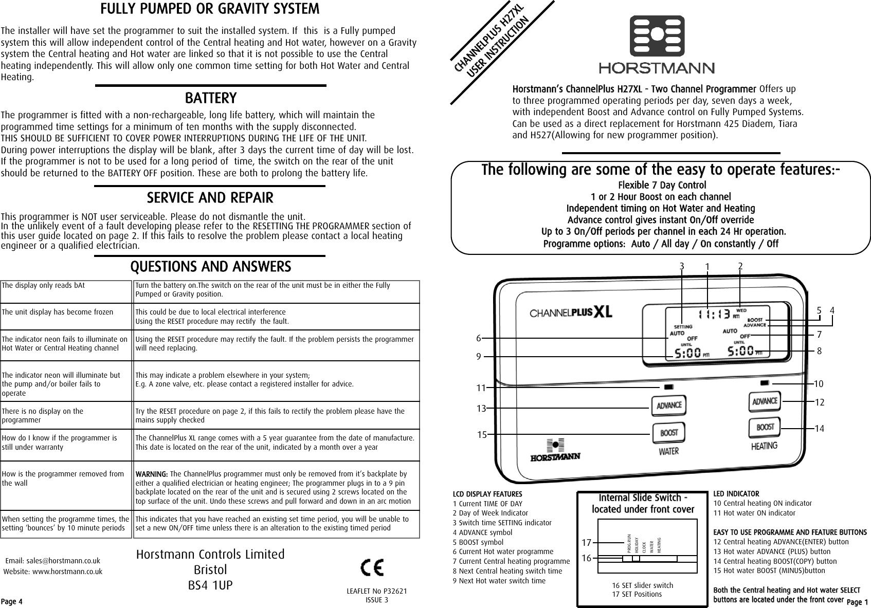 Horstmann channelplus h27xl users manual u freerunsca Images