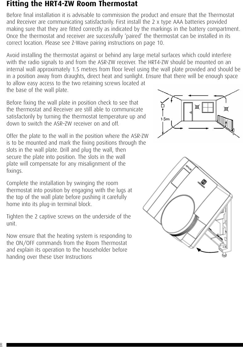 trane z wave thermostat manual