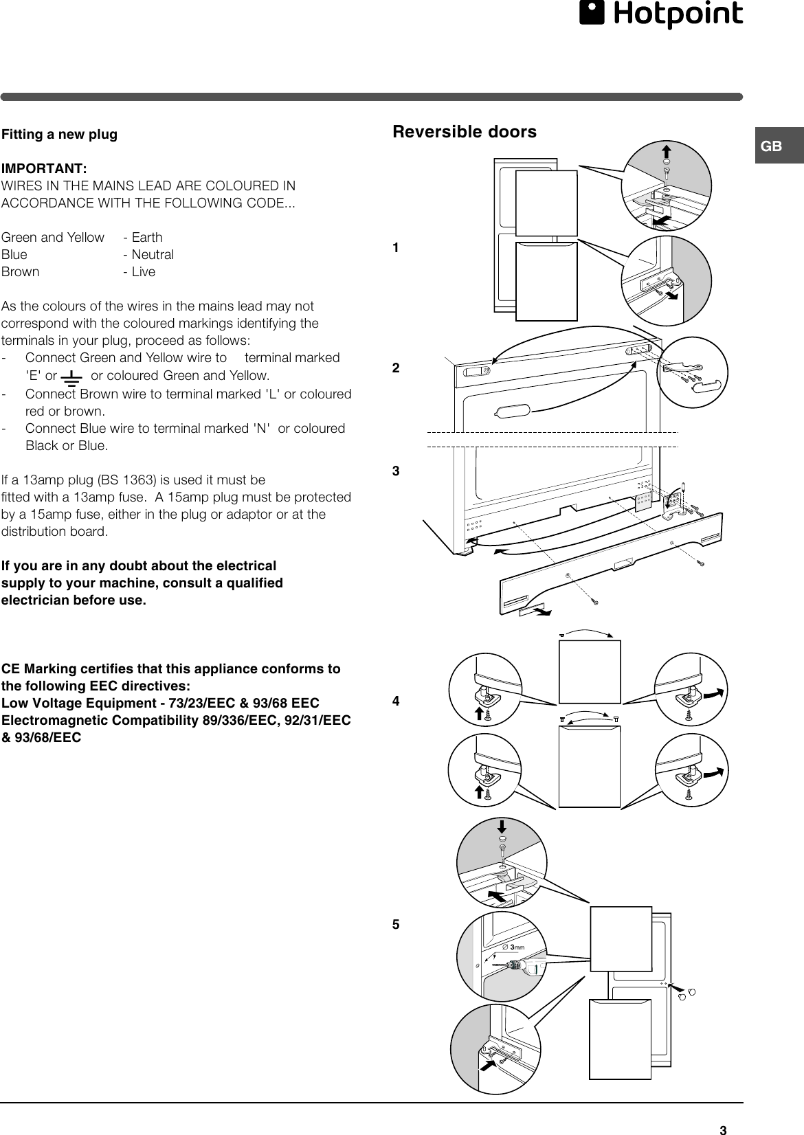 Hotpoint Ff175b Users Manual 44802gb Air Conditioner Wiring Diagram Page 3 Of 12