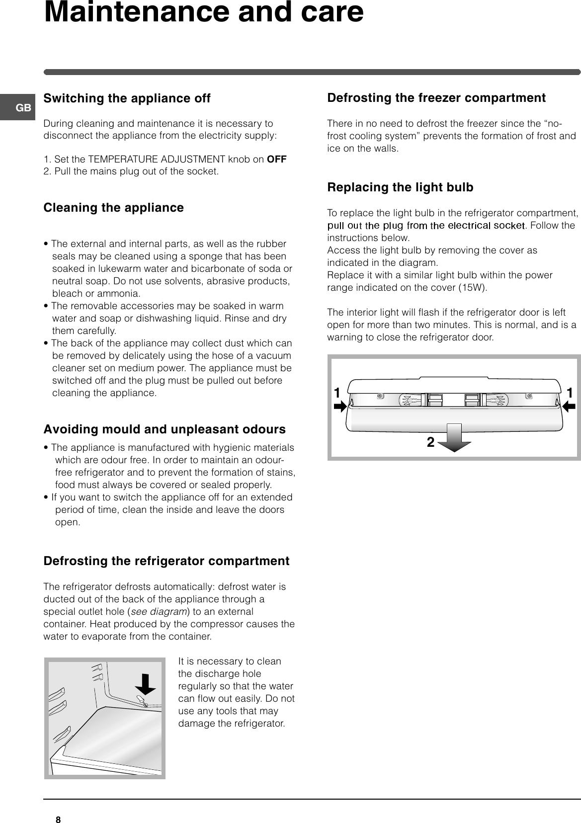 Hotpoint Ffp187B Users Manual 44802gb