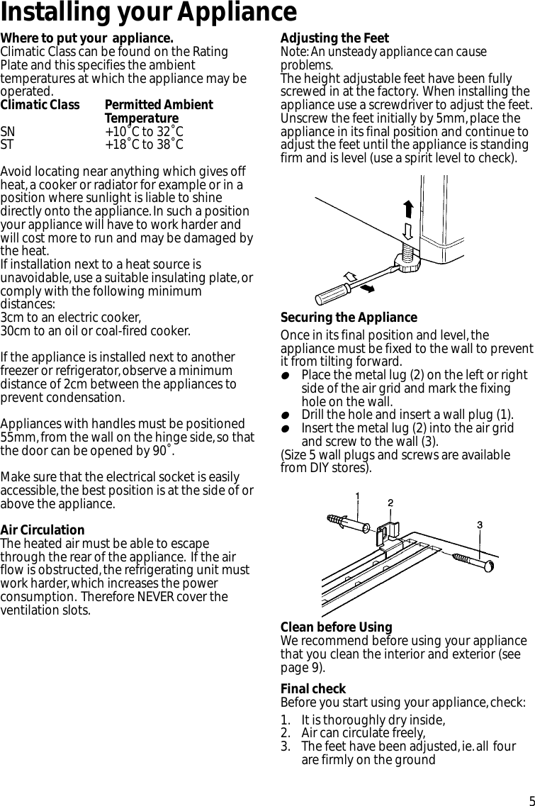 Hotpoint Fz92P Users Manual