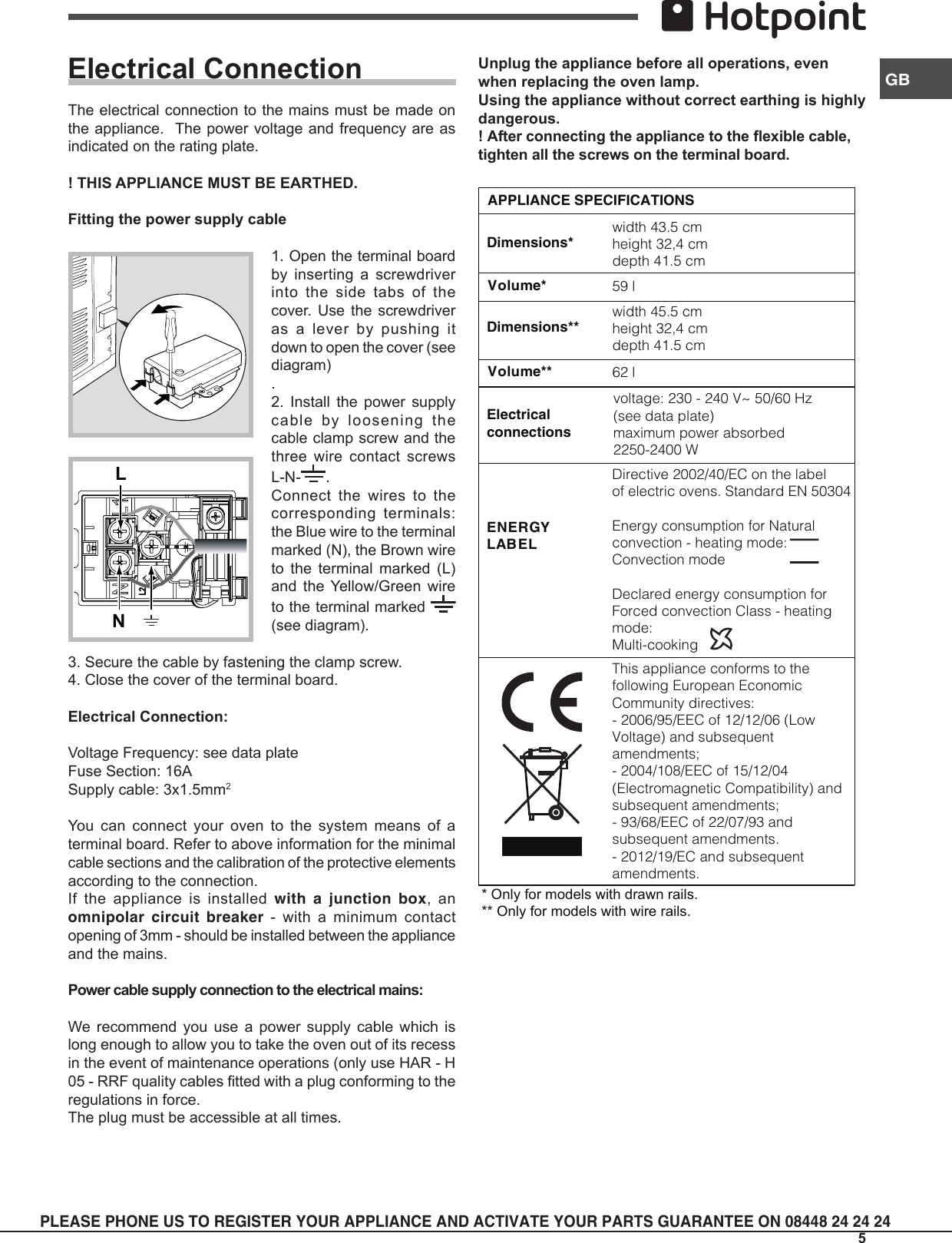 Hotpoint Oven Accessories Sbs 51 X S Users Manual Forno Multifunzione 5 Stove Wiring Diagram Page Of 12