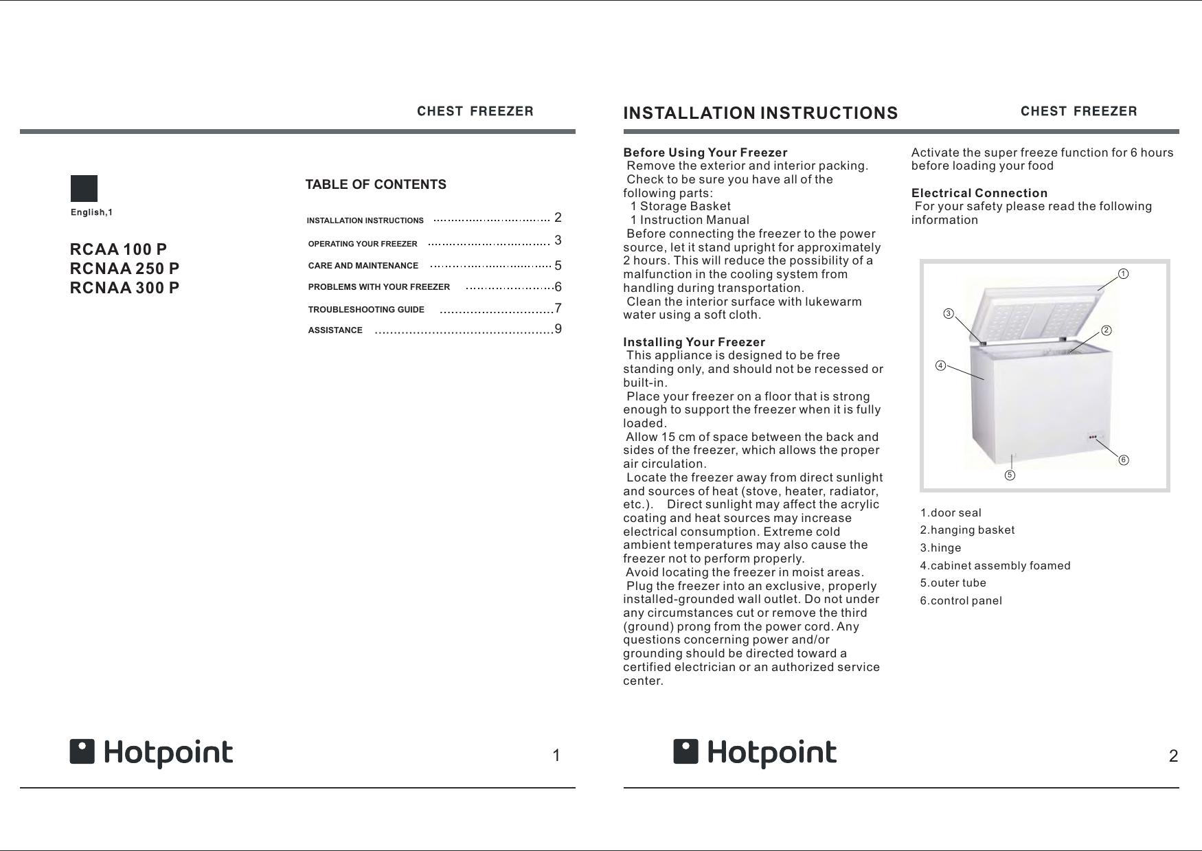 Hotpoint Rcaa Users Manual 鍥惧舰3
