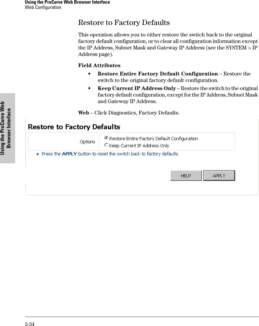 Hp 1700 24 Users Manual Management And Configuration Guide