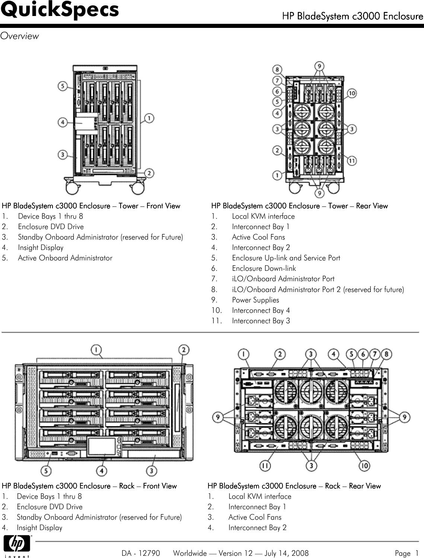 hp c3000 users manual bladesystem enclosure