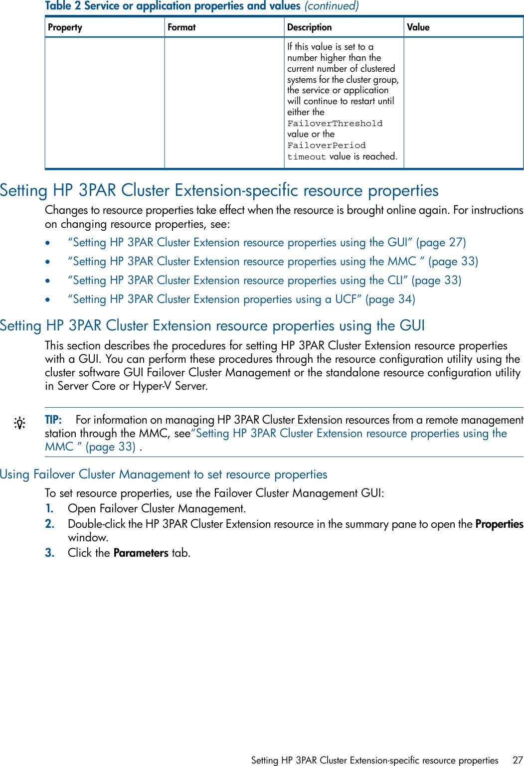 Hp Cluster Software Administrators Guide 3PAR Extension