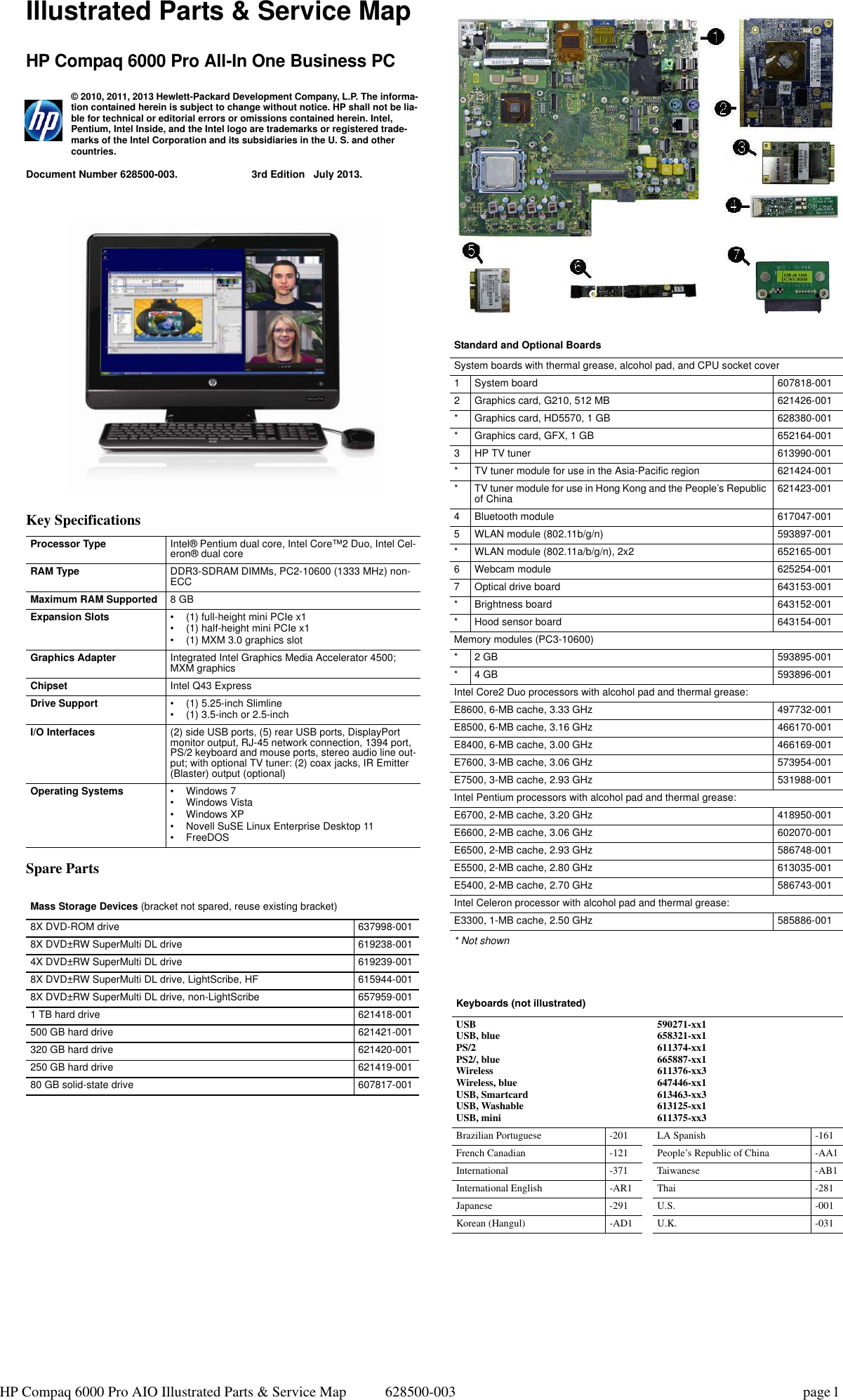 Hp Compaq 6000 Pro All In One Pc Reference Guide TongaE AIO