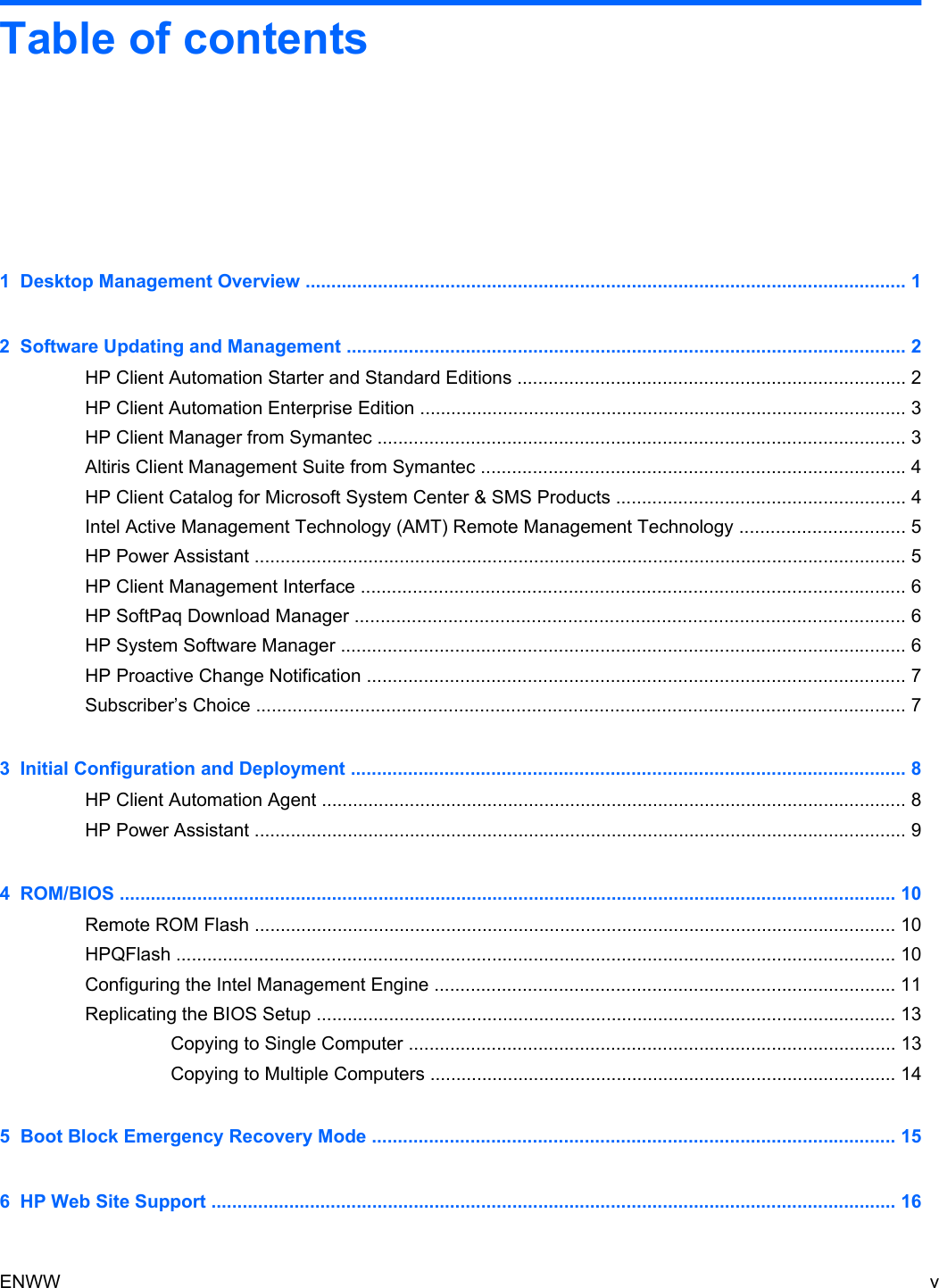 Hp Compaq 6200 Pro Microtower Pc Users Manual 2011 Management Guide