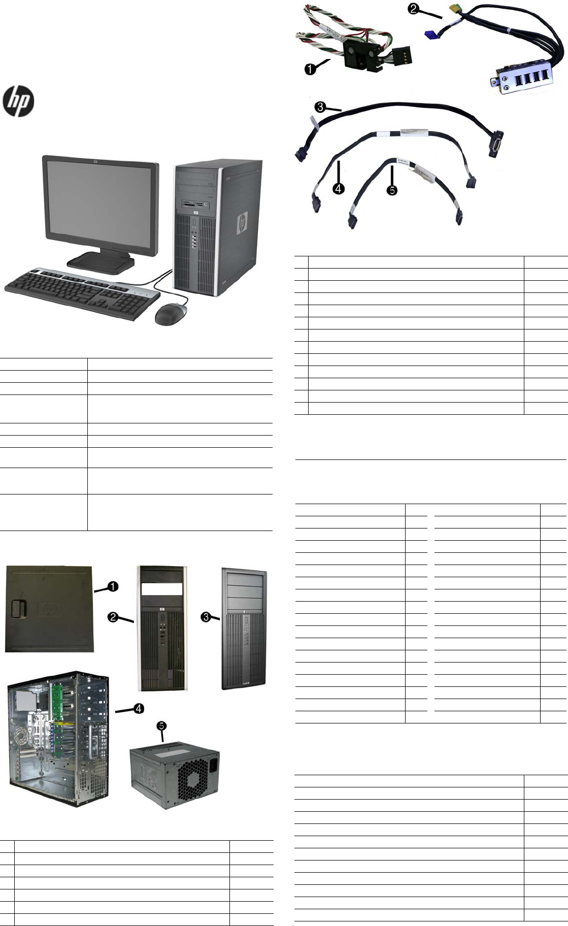 Hp Compaq 8100 Elite Convertible Minitower Pc Reference Guide