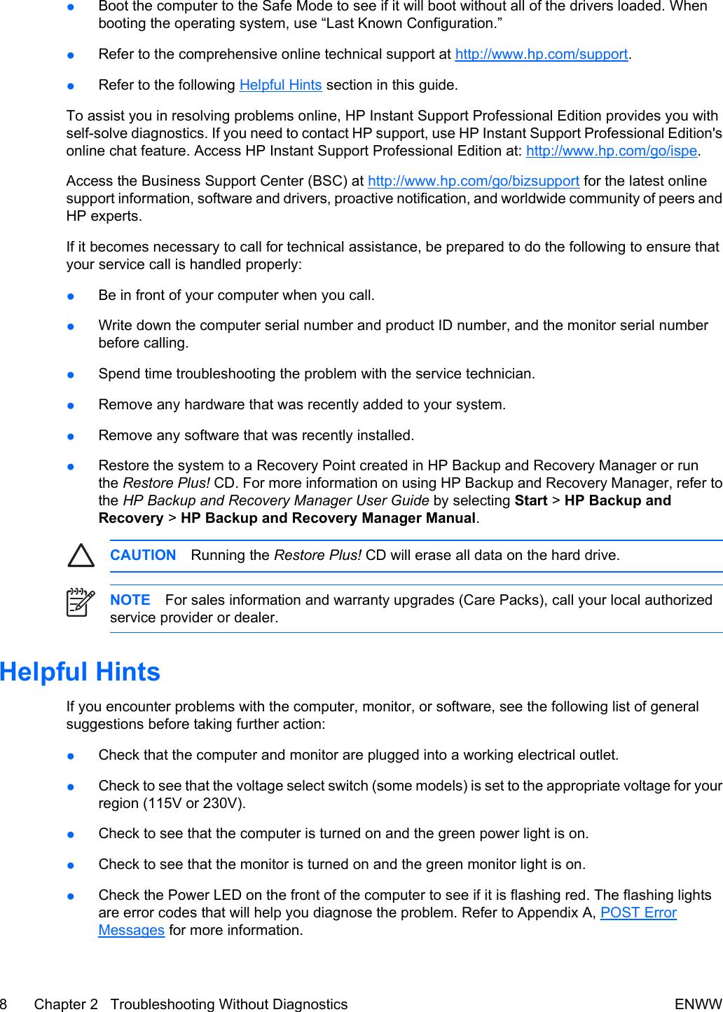 Hp Light Codes