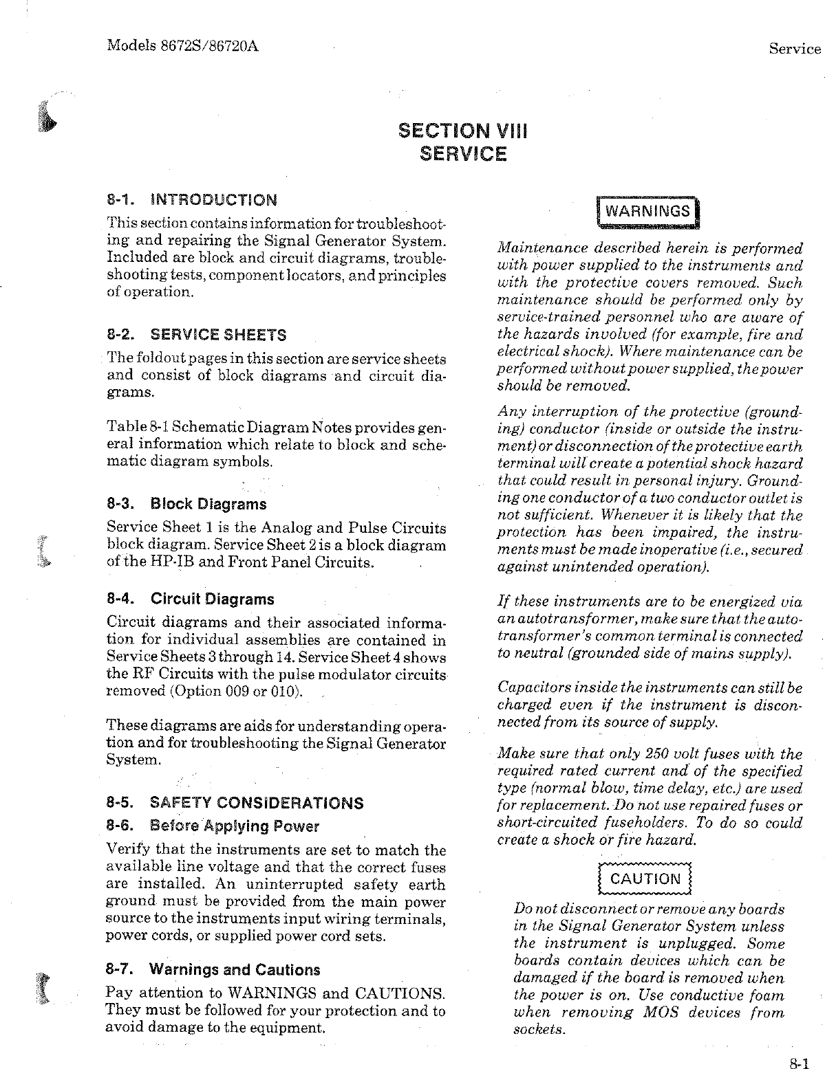 Hp Computer Accessories 86720A Users Manual