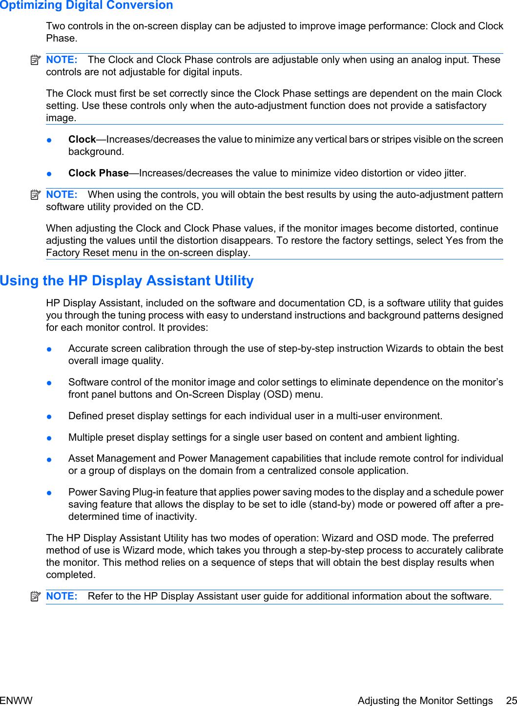 Hp Computer Monitor Zr22W Users Manual ZR24w User Guide