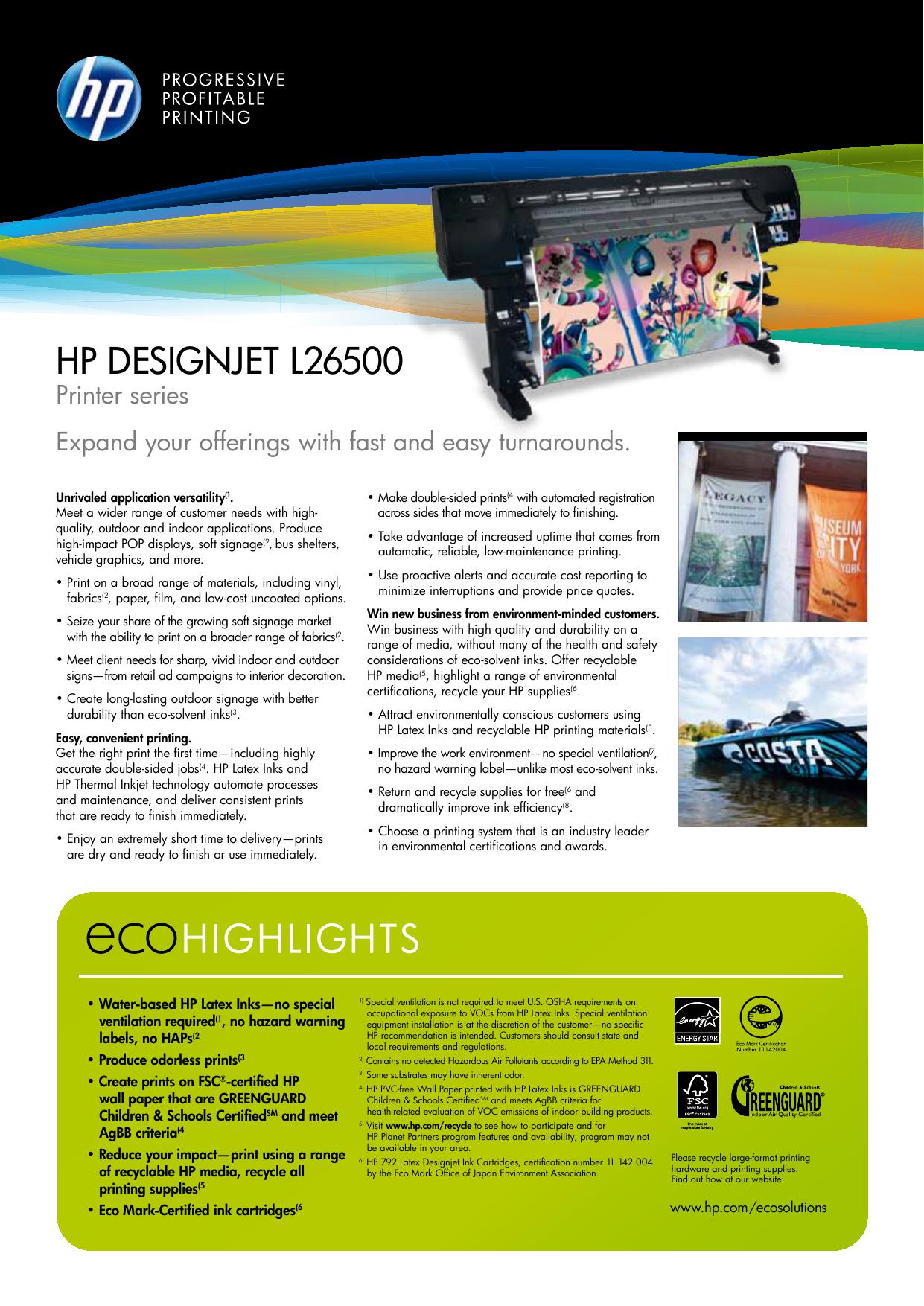 Hp Designjet L26500 Users Manual 81 Yellow Dye Printhead And Cleaner Original