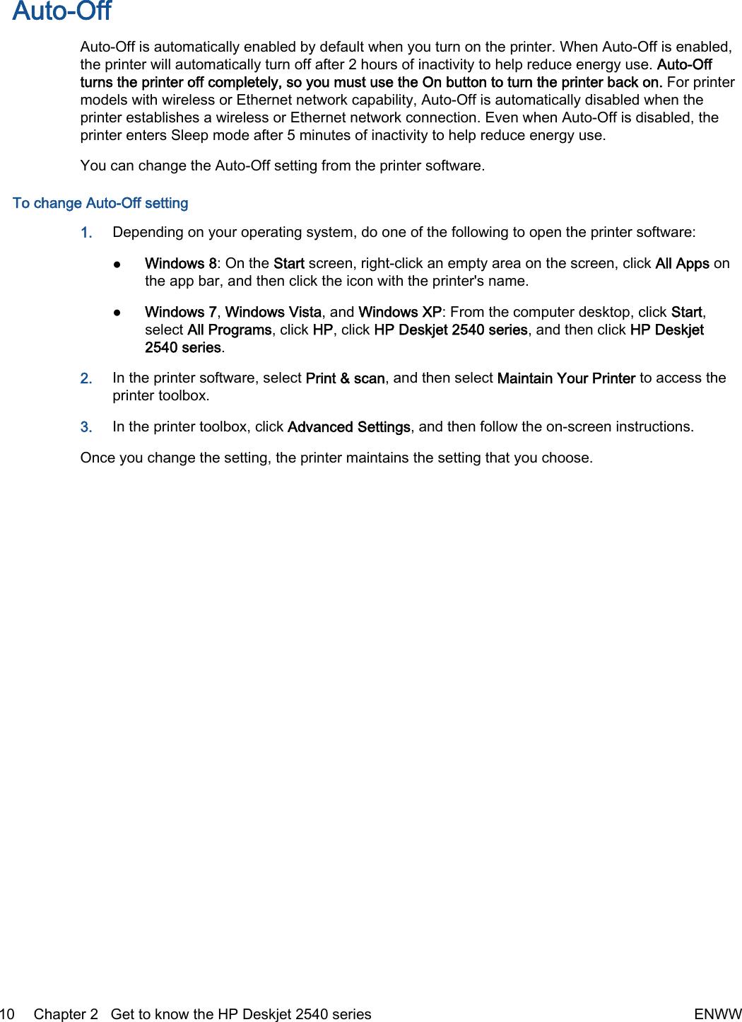 Hp Deskjet 2541 All In One Printer Users Manual