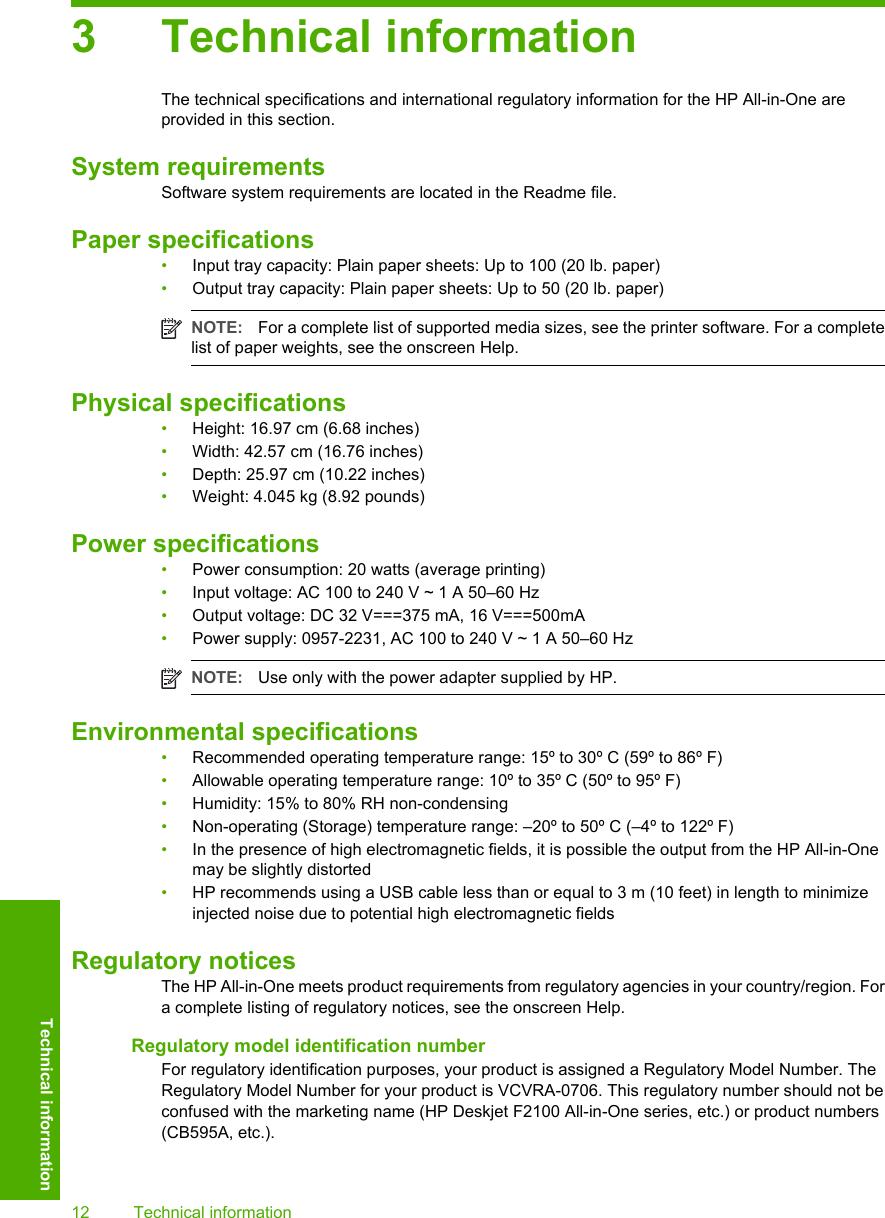 Hp Deskjet F2110 All In One Printer Basic Manual F2100