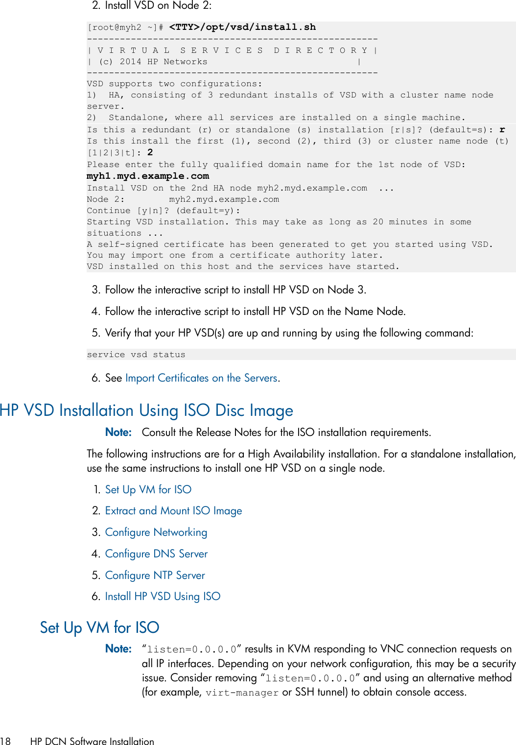 Hp Distributed Cloud Networking Installation Guide VSP_Install