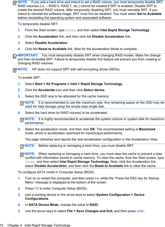 Hp Elitebook Folio 9470M Ultrabook Users Manual RAID Guide