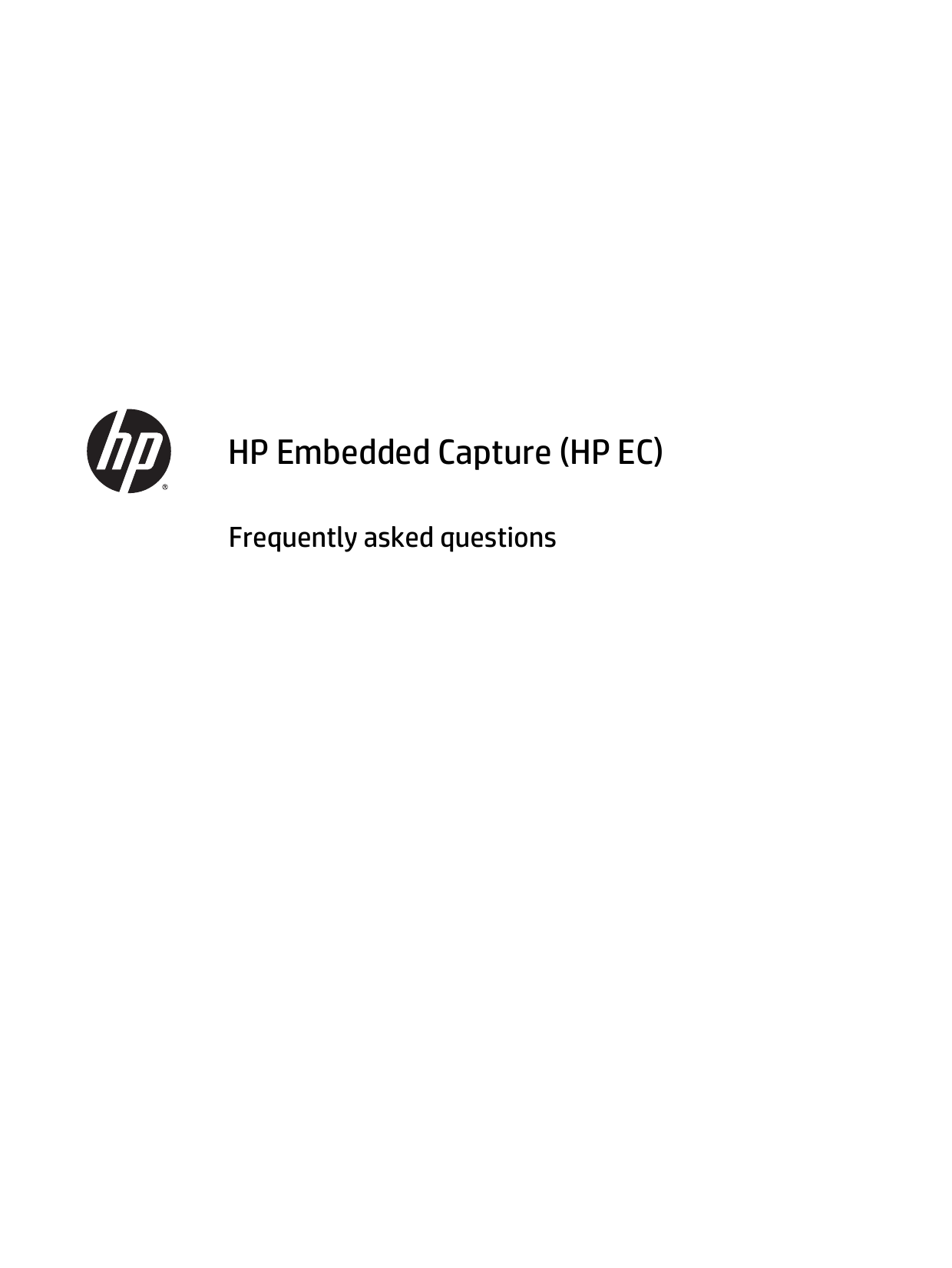 Hp Embedded Capture Getting Started Guide