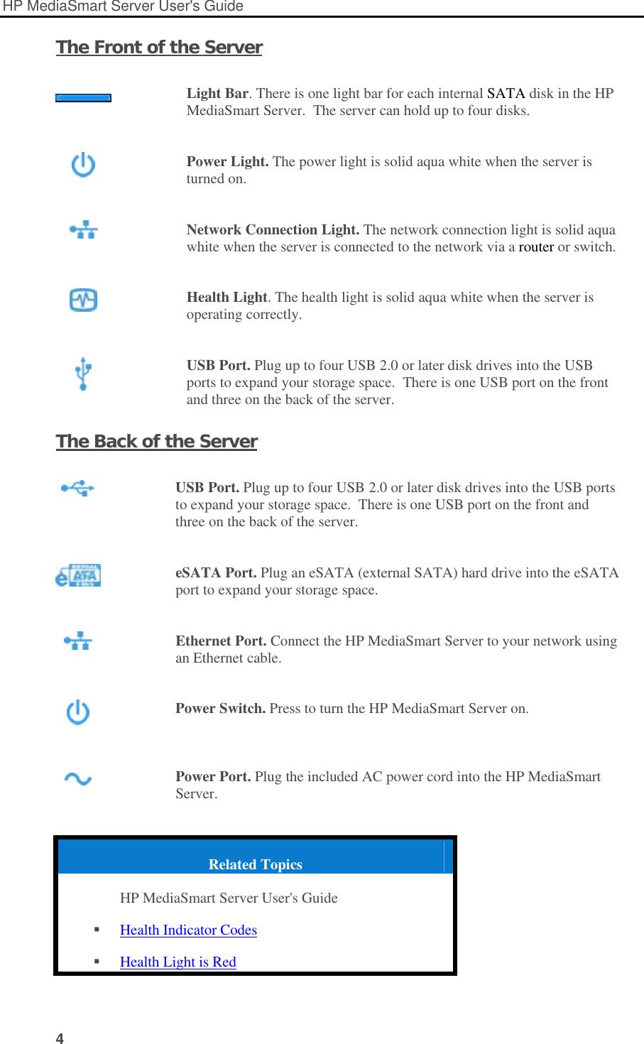Hp Ex490 Mediasmart Server Users Manual User's Guide_EN
